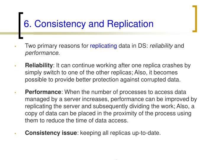 6. Consistency and Replication
