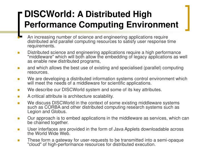 DISCWorld: