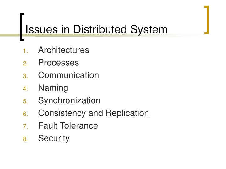Issues in Distributed System