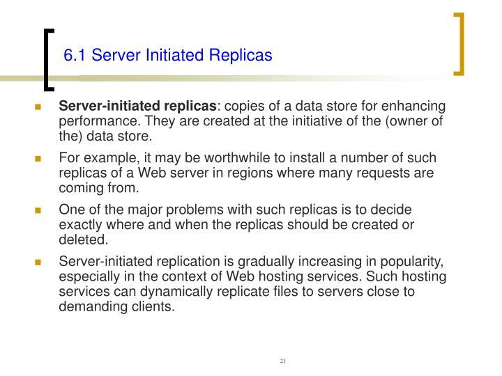 6.1 Server Initiated Replicas