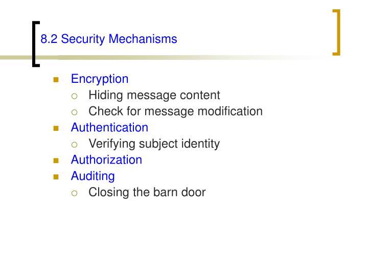 8.2 Security Mechanisms