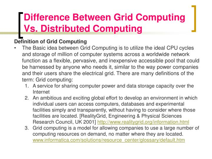 Difference Between Grid Computing Vs. Distributed Computing