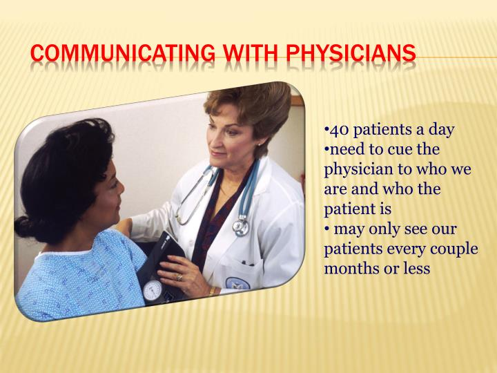 Communicating with Physicians