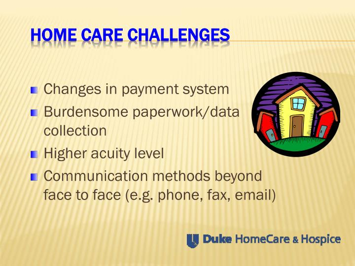 Home Care Challenges