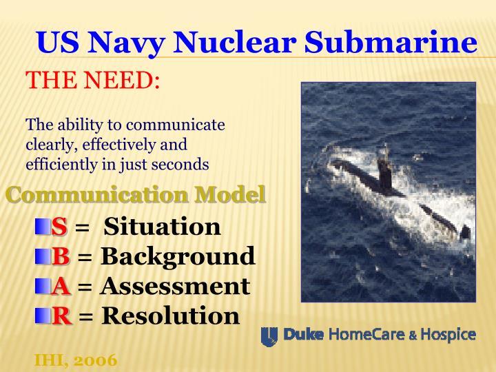 US Navy Nuclear Submarine