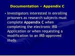 documentation appendix c
