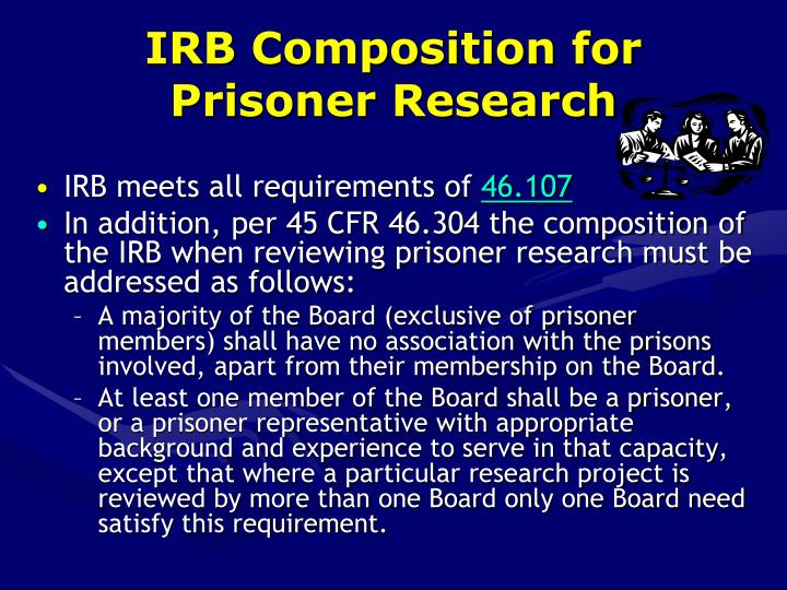 IRB Composition for Prisoner Research