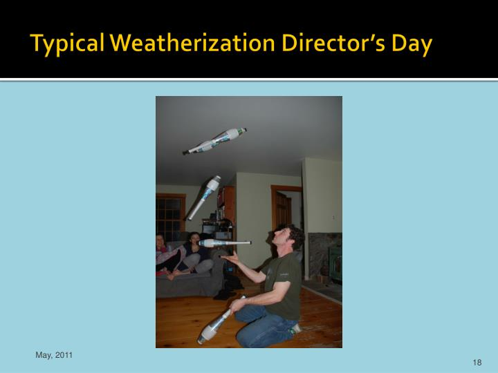 Typical Weatherization Director's Day