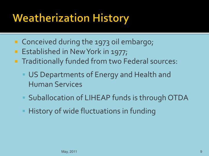 Weatherization History