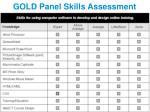 gold panel skills assessment