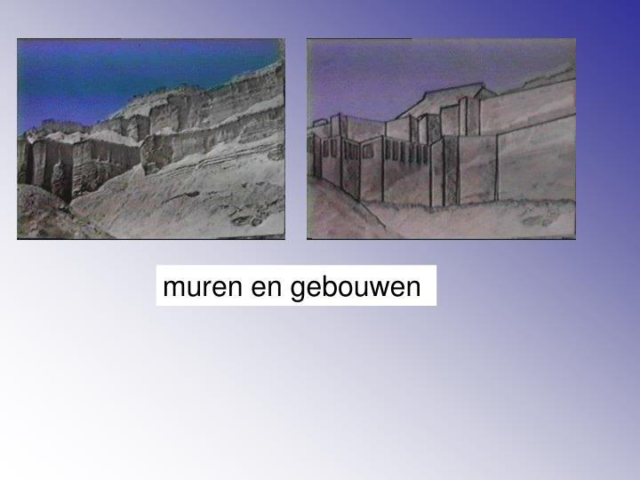 muren en gebouwen