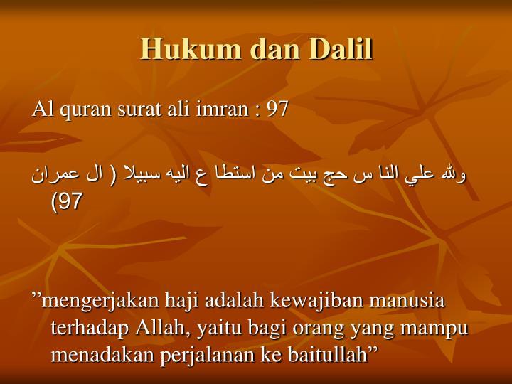 Hukum dan Dalil