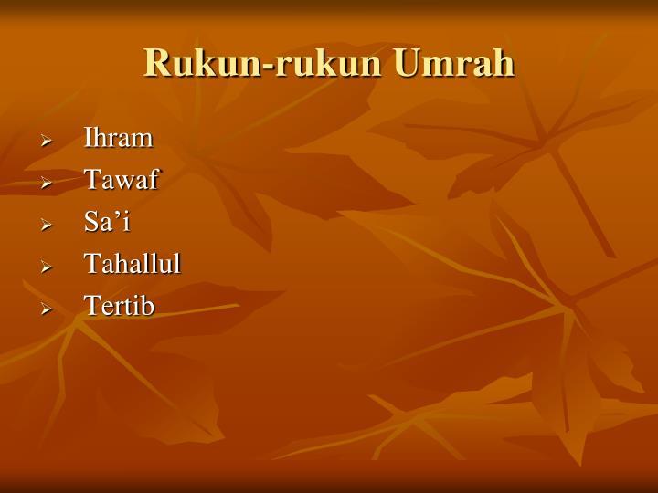 Rukun-rukun Umrah