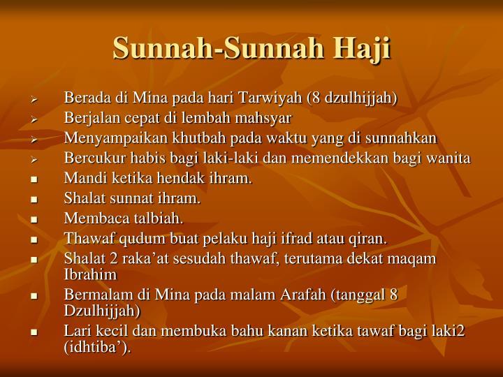 Sunnah-Sunnah Haji