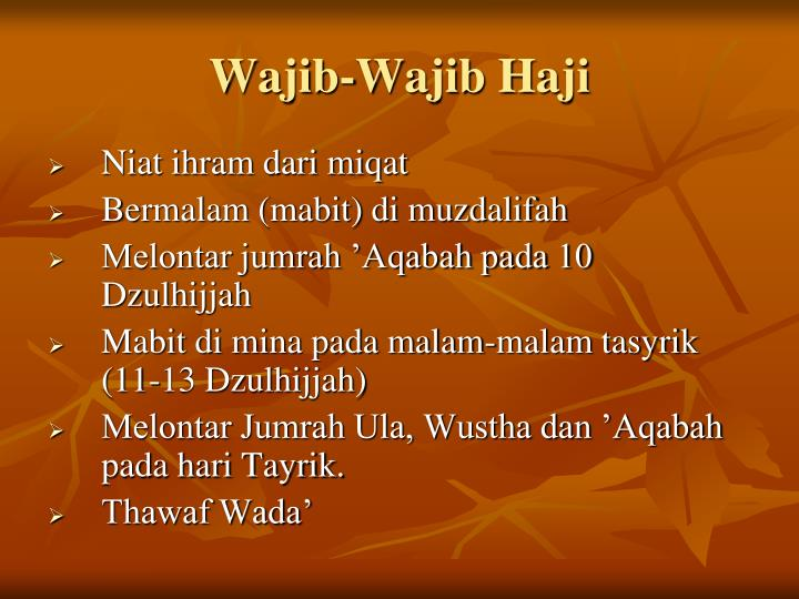 Wajib-Wajib Haji