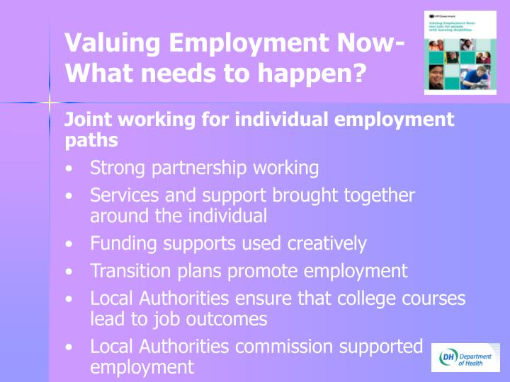 Valuing Employment Now-