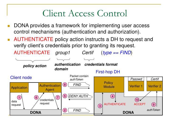 Client Access Control