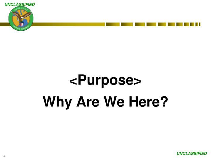 <Purpose>