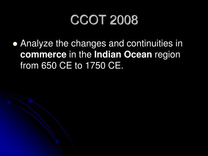 CCOT 2008