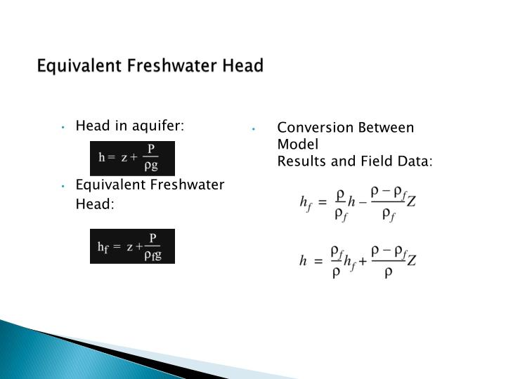 Equivalent Freshwater Head