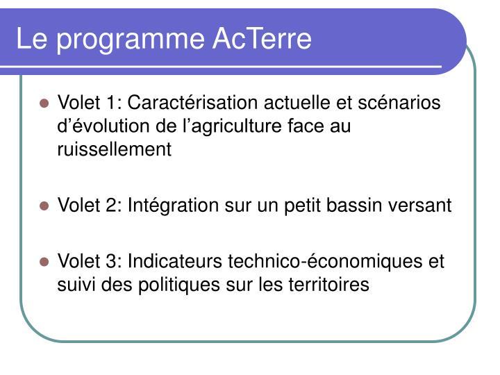Le programme AcTerre