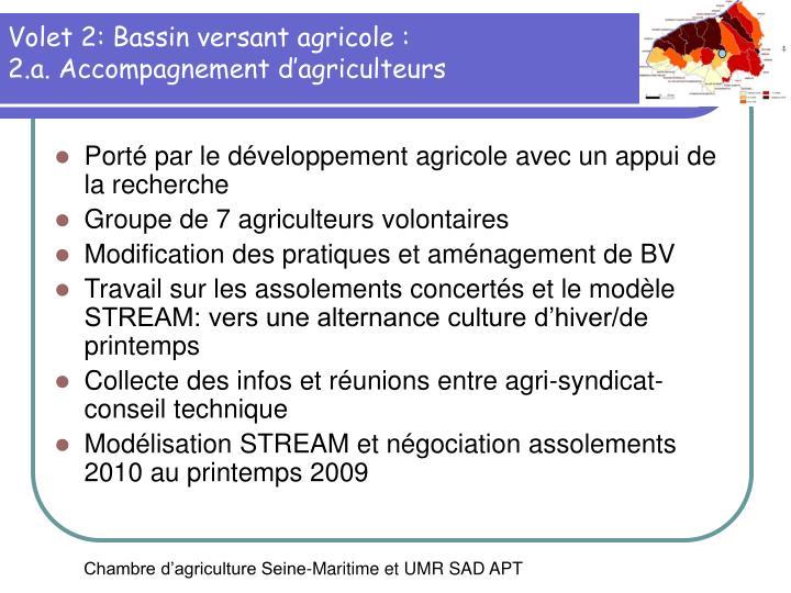 Volet 2: Bassin versant agricole :