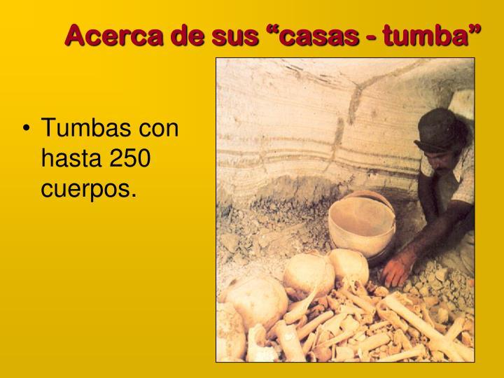 "Acerca de sus ""casas - tumba"""