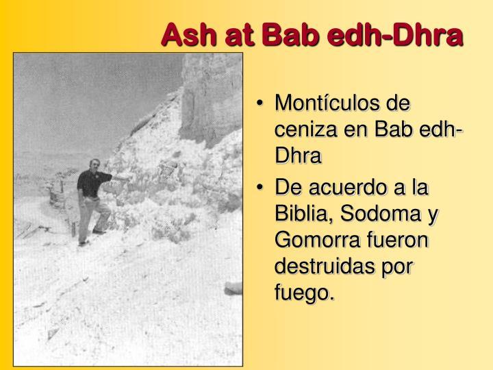 Ash at Bab edh-Dhra