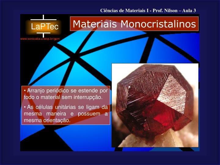 Materiais Monocristalinos