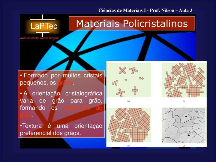 Materiais Policristalinos