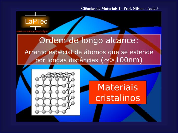 Materiais cristalinos