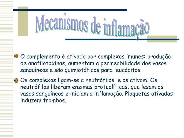 Mecanismos de inflamação