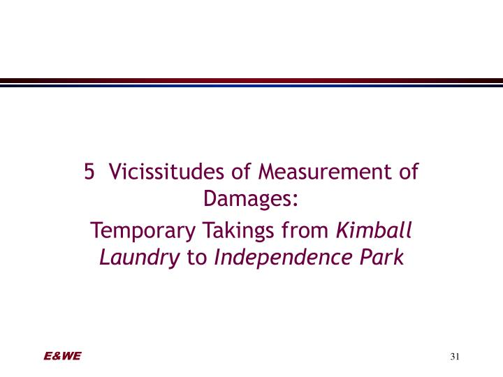5  Vicissitudes of Measurement of Damages: