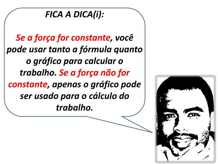 FICA A DICA(i):