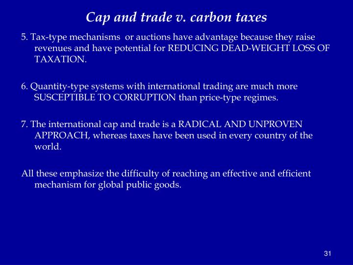 Advantages and disadvantages of cap and trade system
