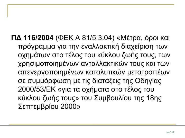 ΠΔ 116/2004