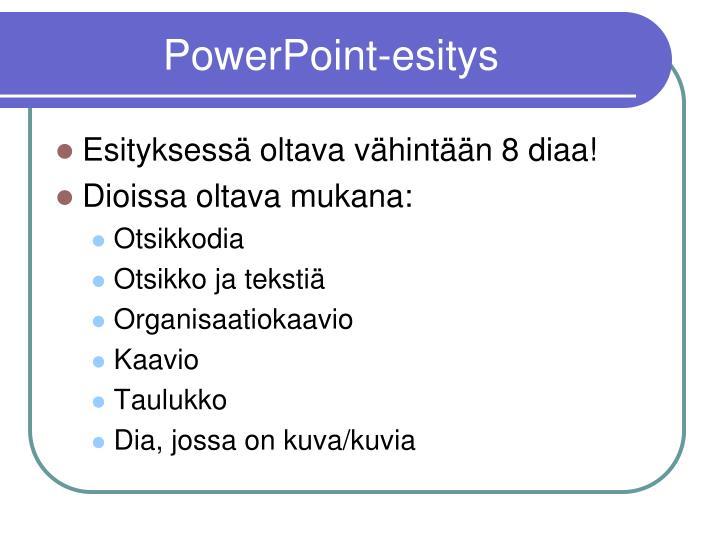PowerPoint-esitys