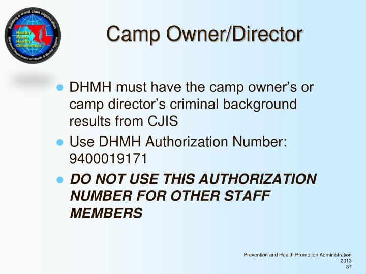 Camp Owner/Director