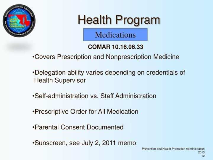 Health Program