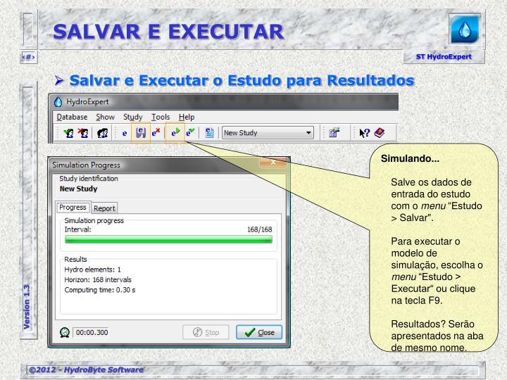 SALVAR E EXECUTAR