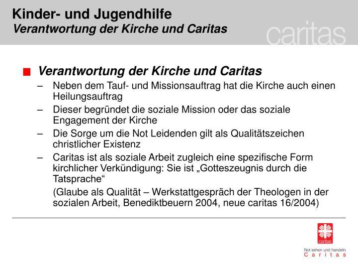 Verantwortung der Kirche und Caritas