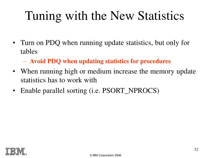 Turn on PDQ when running update statistics, but only for tables