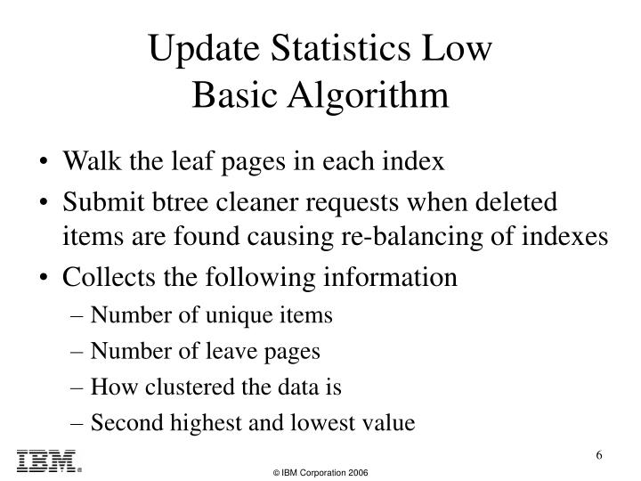 Walk the leaf pages in each index