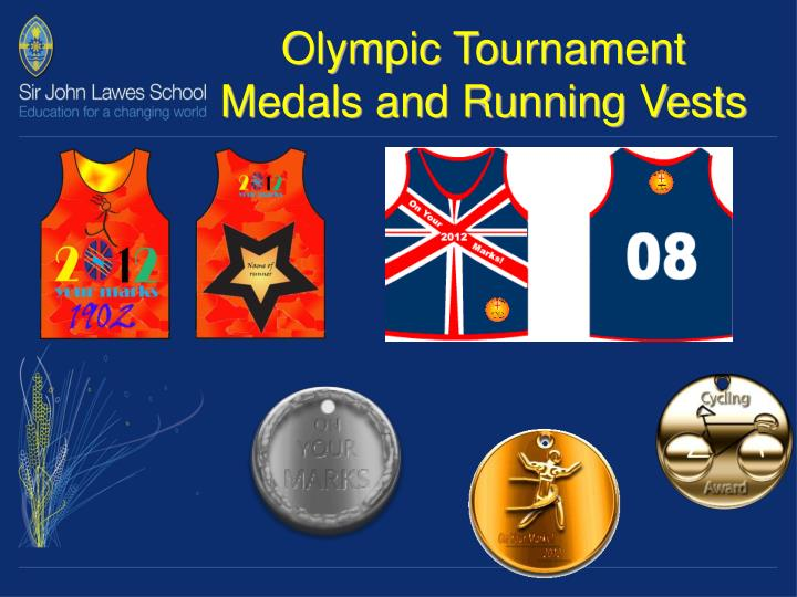 Olympic Tournament Medals and Running Vests