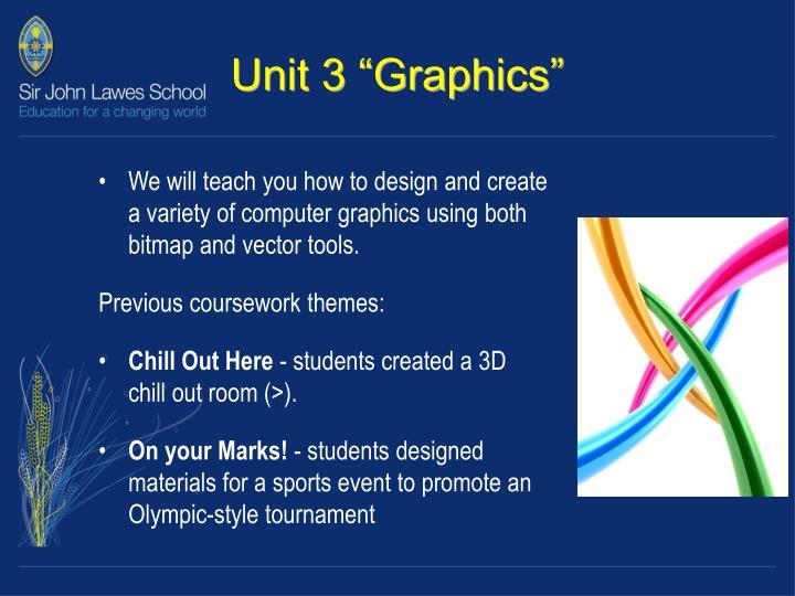 "Unit 3 ""Graphics"""