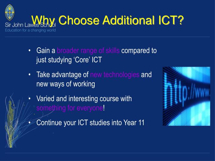 Why Choose Additional ICT?