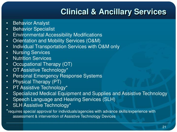 Clinical & Ancillary Services