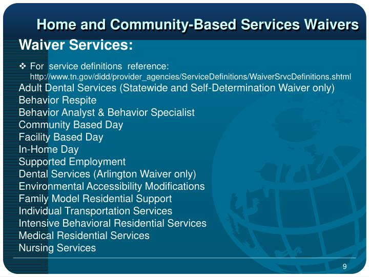 Home and Community-Based Services Waivers