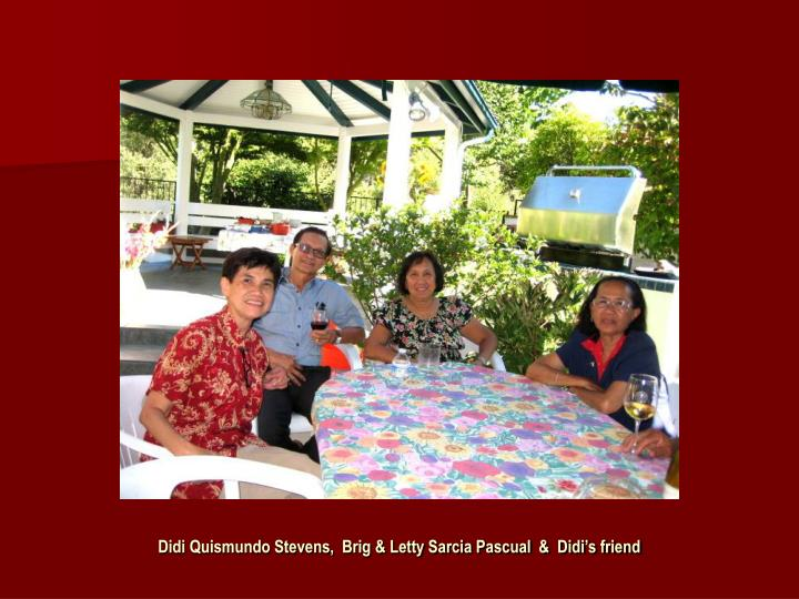 Didi Quismundo Stevens,  Brig & Letty Sarcia Pascual  &  Didi's friend