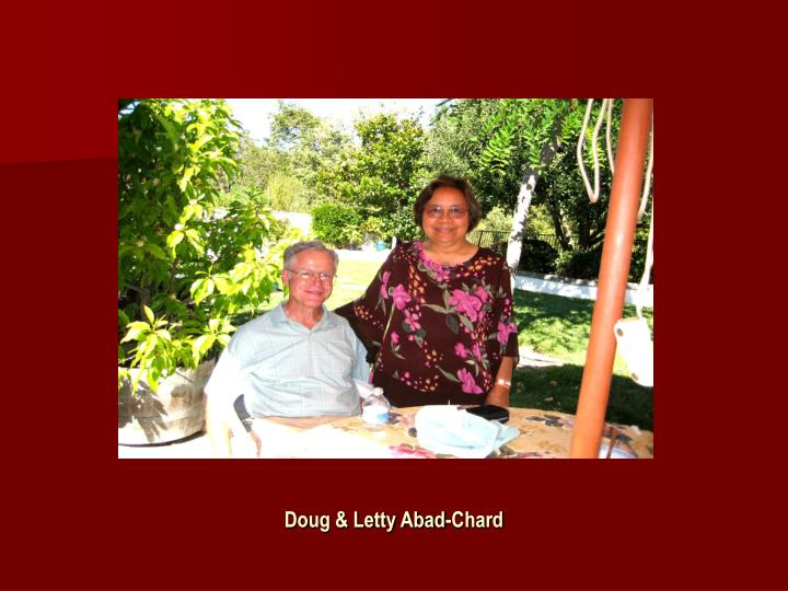 Doug & Letty Abad-Chard